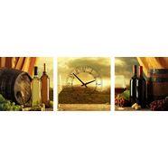 conni oberkircher´s wanddecoratie smell of wine met decoratieve klok (set) groen