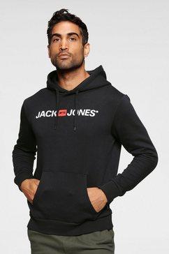 jack  jones hoodie »jack  jones logo hoodie oldschool« zwart