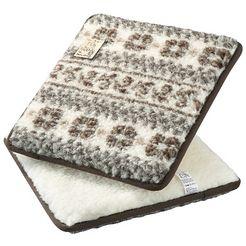 linke licardo stoelkussen malmoe gemaakt van puur scheerwol (2 stuks) (2 stuks) bruin