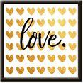 artland artprint »goldene liebe« goud