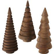 boltze deco-boom abiola (set, 3 stuks) bruin