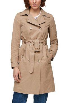 s.oliver trenchcoat (met een afneembare riem) bruin