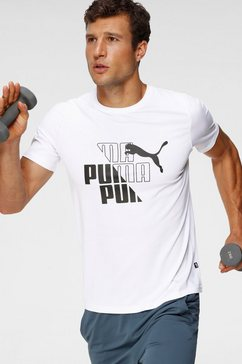 puma t-shirt »graphic tee« wit