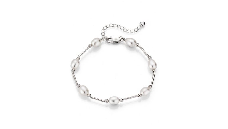 Firetti zilveren armband »rhodiniert, rund, zart schimmernd, edel«