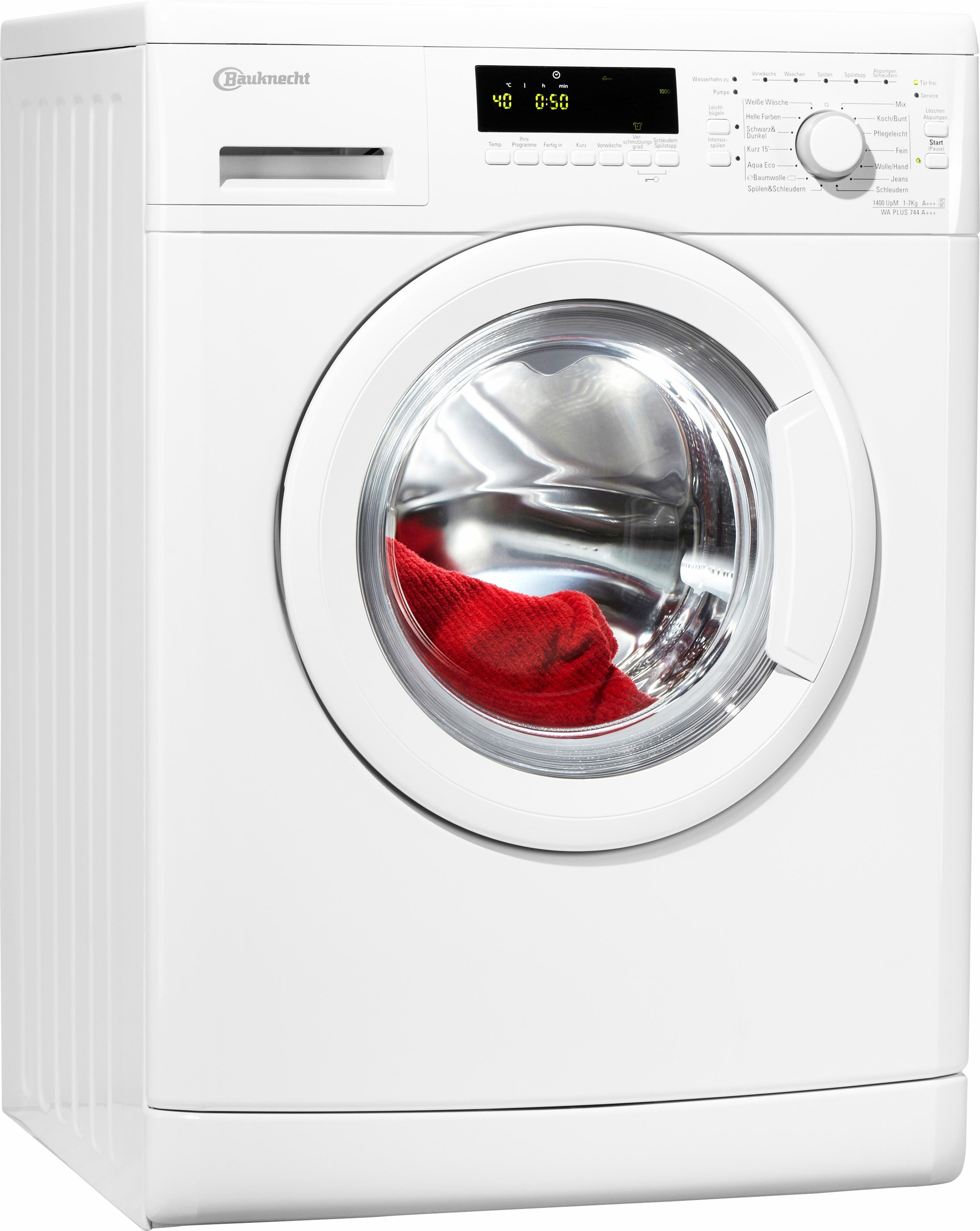 Bauknecht wasmachine WA PLUS 744 A+++, A+++, 7 kg, 1400 tpm nu online kopen bij OTTO