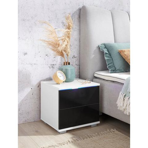 priess nachtkastje met ledverlichting en push-to-open