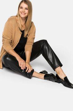 sheego imitatieleren broek zwart