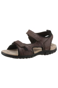 geox sandalen uomo sandal strada met praktische klittenbandsluitingen bruin