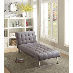 atlantic home collection stretcher met relax- en slaapfunctie grijs