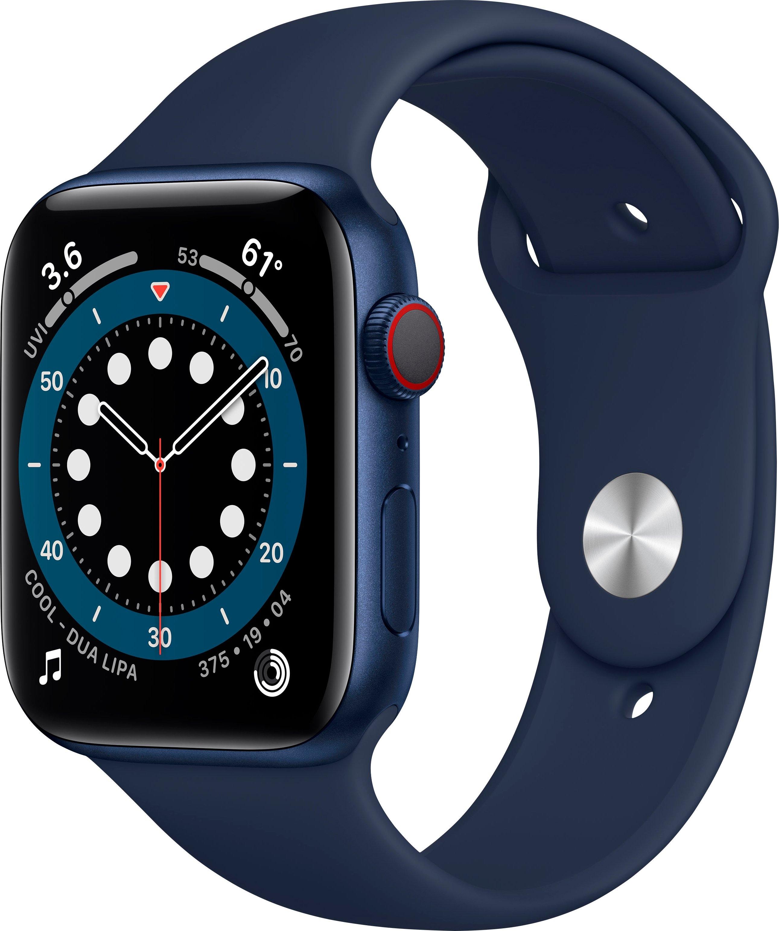 Apple watch Series 6 GPS + Cellular, Aluminiumgehäuse mit Sport 44mm inclusief oplaadstation (magnetische oplaadkabel) in de webshop van OTTO kopen