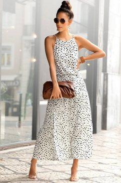 buffalo maxi-jurk met stippeltjesprint wit