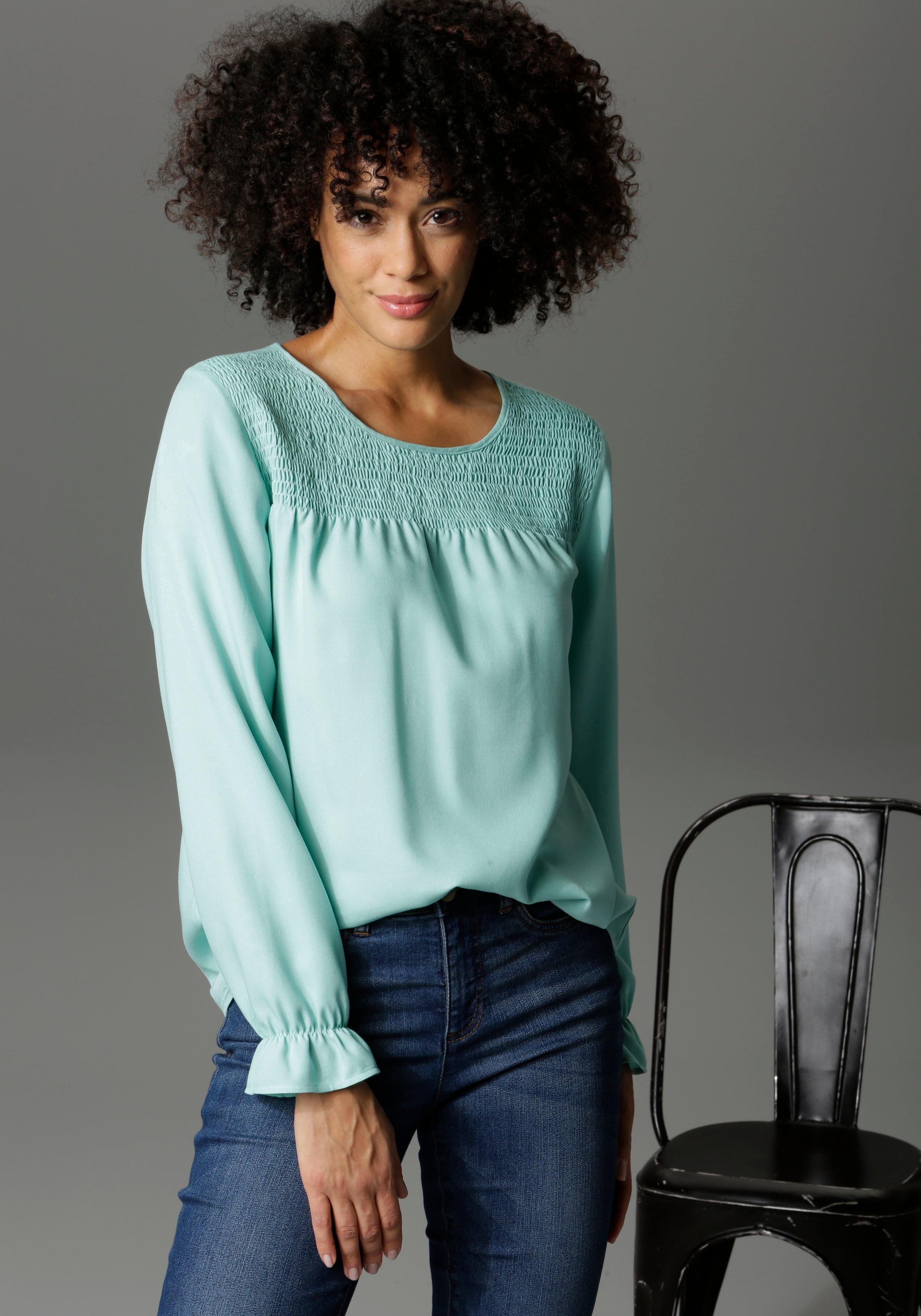 Aniston CASUAL blouse zonder sluiting gestippeld of uni - aan jou de keuze voordelig en veilig online kopen