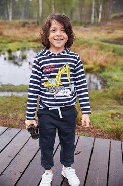 kidsworld shirt met lange mouwen  broek blauw