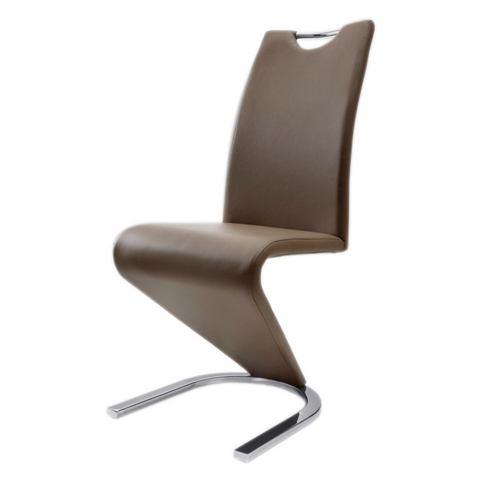 Eetkamerstoelen Vrijdragende stoel in leer-look 613638