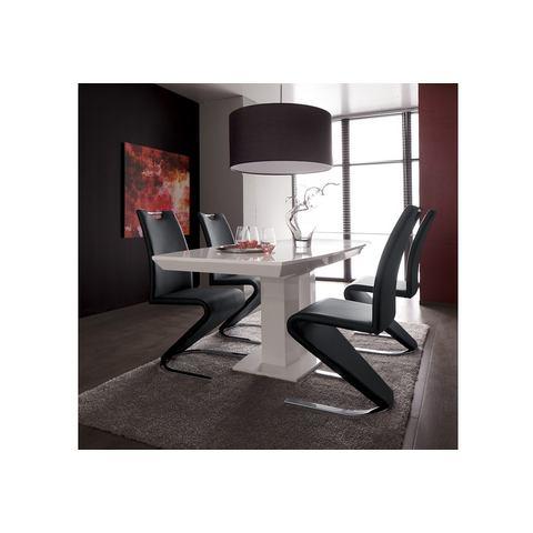 Eetkamerstoelen Vrijdragende stoel in leer-look 259111