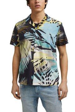 edc by esprit overhemd met korte mouwen met motiefprint blauw