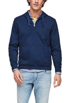 s.oliver hoodie met een ritssluiting bij de kraag blauw