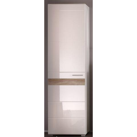 kast MEZZO met hoogglansfronten witte slaapkamer garderobekast 210