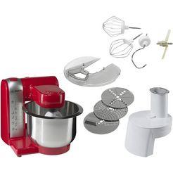 bosch keukenmachine mum48r1, 600 watt rood