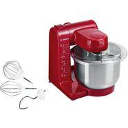 bosch keukenmachine mum44r1 4 opstappen, rood, 500 watt rood