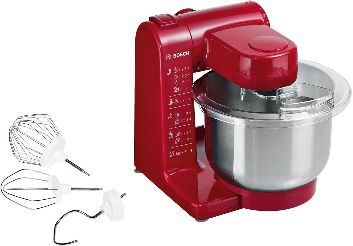 Bosch Keukenmachine MUM44R1 4 opstappen, rood, 500 Watt - gratis ruilen op otto.nl