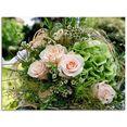 artland print op glas bos bloemen (1 stuk) roze