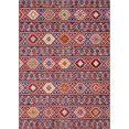 elle decor vloerkleed anatolian orint-look, woonkamer rood