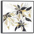 reinders! artprint op linnen leinwandbild goldene blueten blumen - glamouroes - elegant (1 stuk) goud