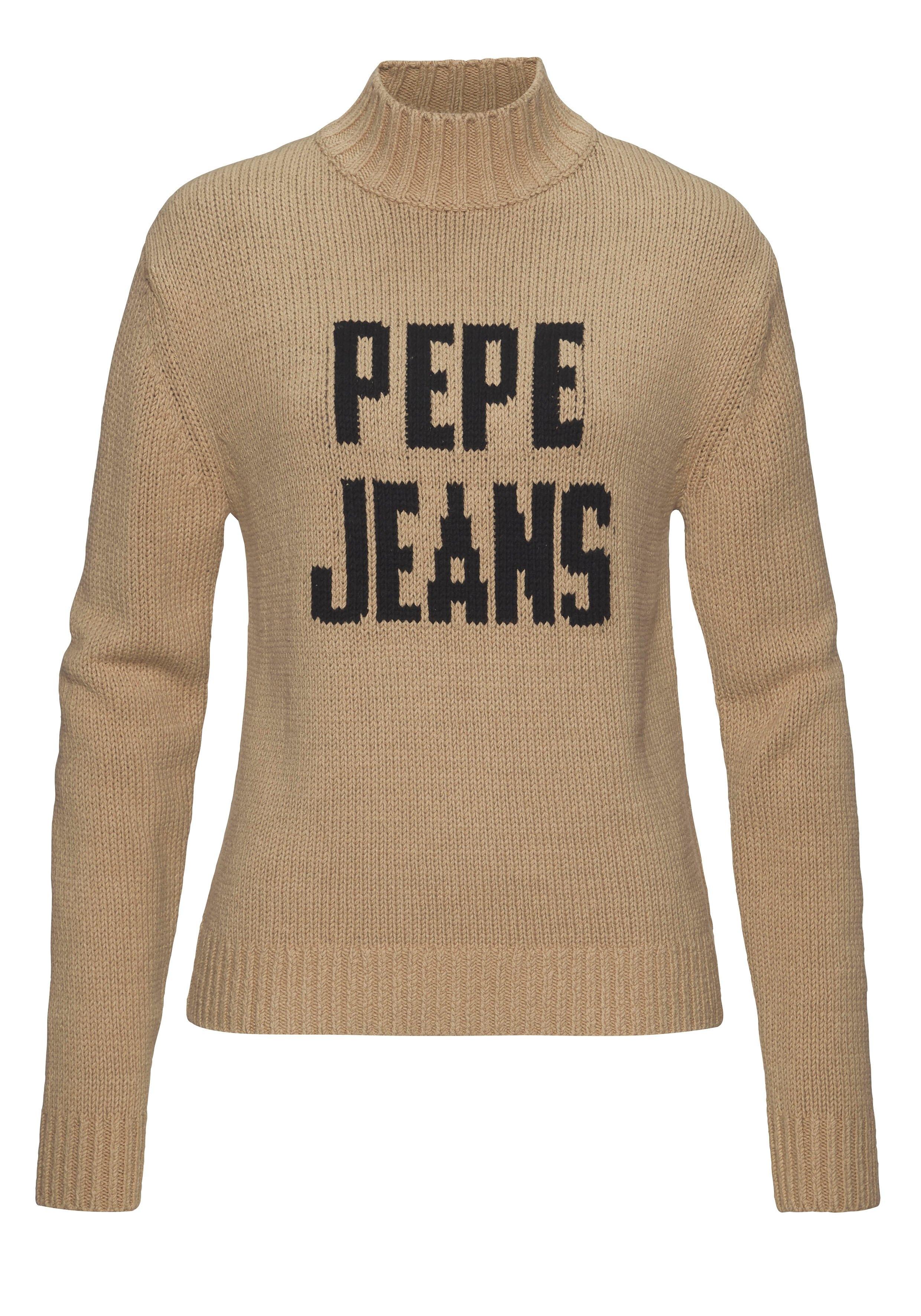 Op zoek naar een Pepe Jeans coltrui CARLOTARO met merkopschrift op borsthoogte? Koop online bij OTTO