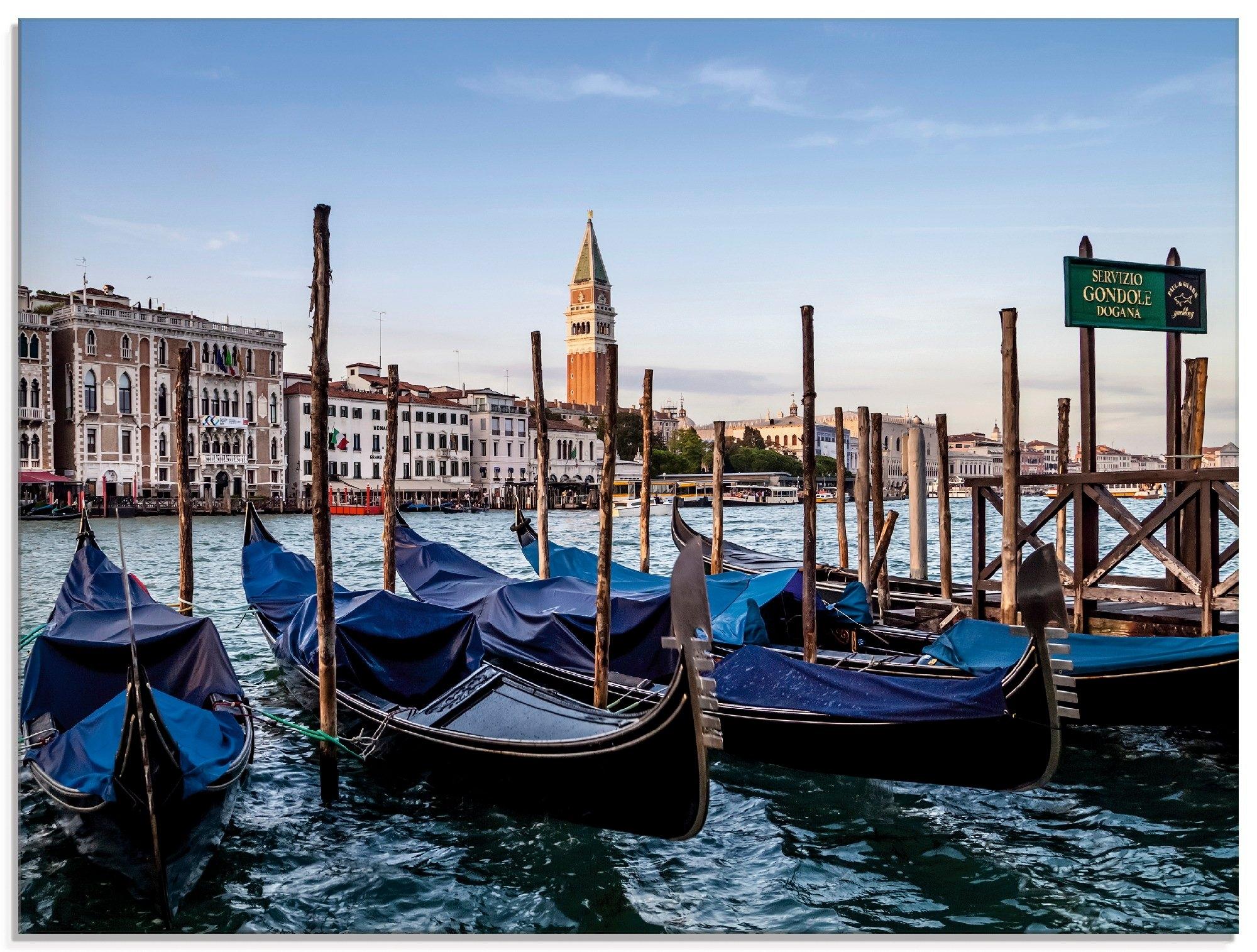 Artland print op glas Venetië Canal Grande met gondels (1 stuk) voordelig en veilig online kopen