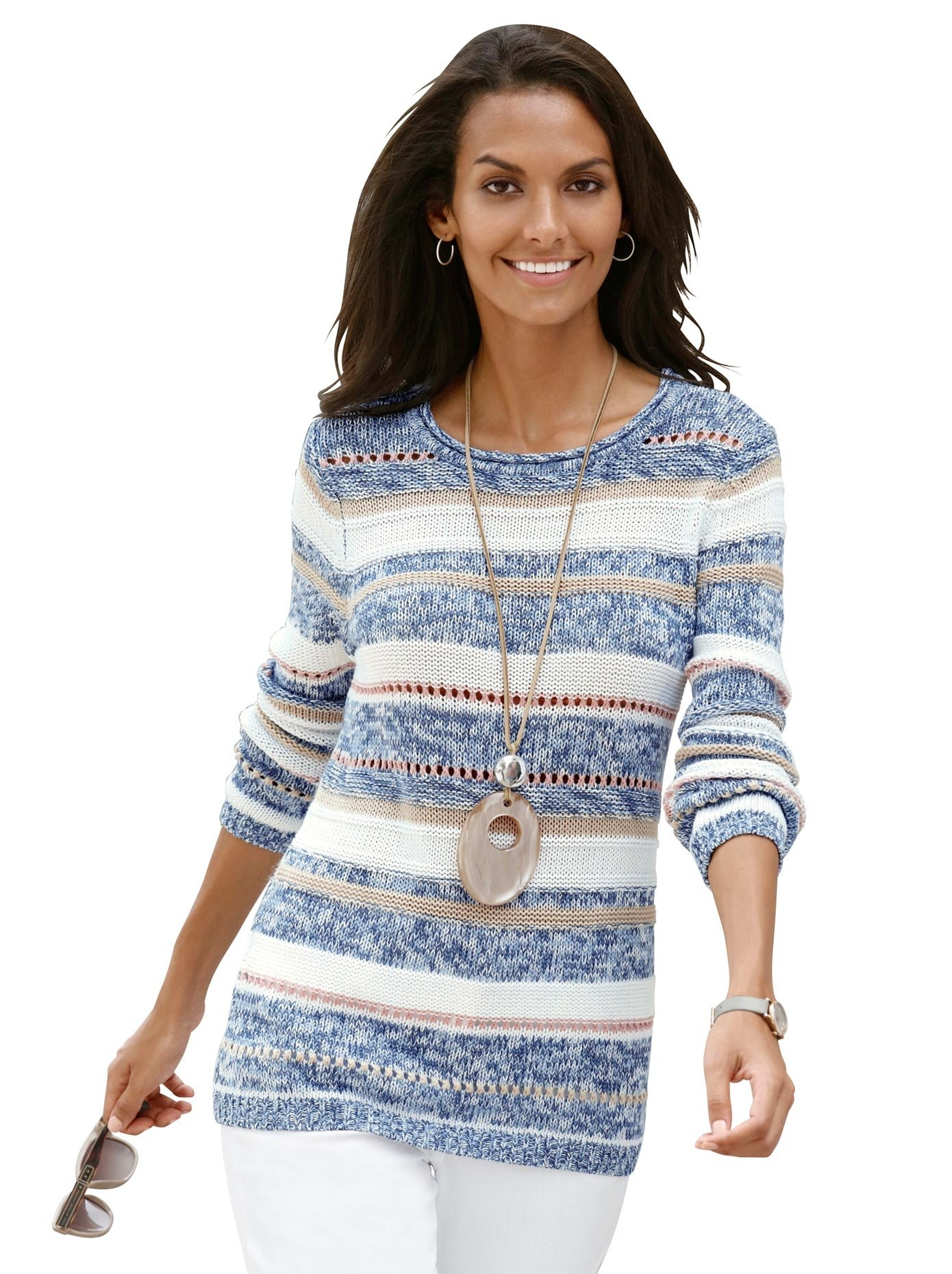 Casual Looks trui van zacht bouclégaren bestellen: 30 dagen bedenktijd