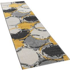 paco home loper pattern 129 loper, korte pool, geweven, modern design geel