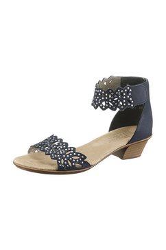 rieker sandaaltjes van nubuckleer blauw