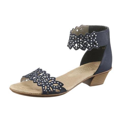 RIEKER Sandaaltjes van nubuckleer