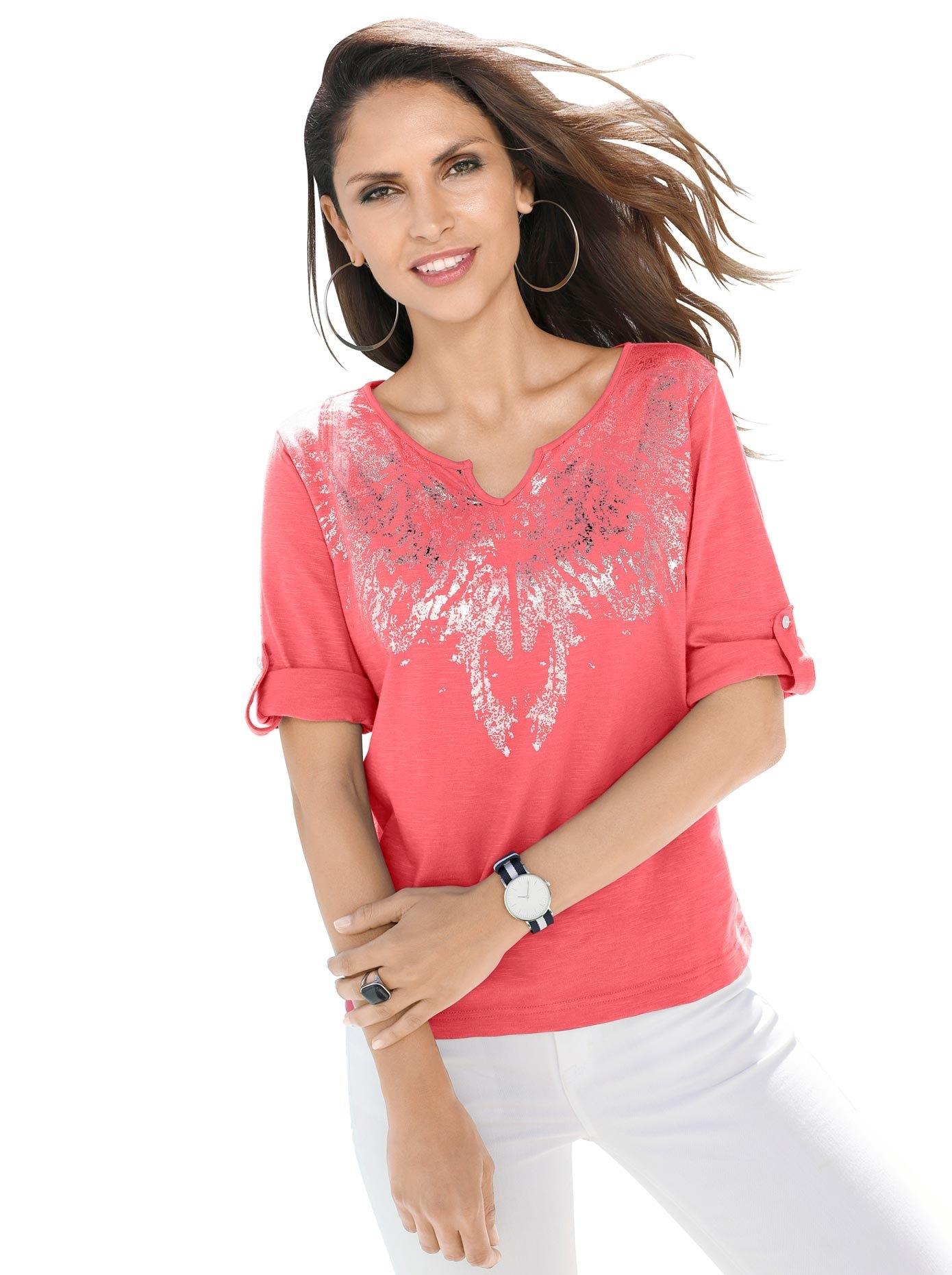 Op zoek naar een Classic Inspirationen shirt met opvallende, zilverkleurige metallicprint? Koop online bij OTTO