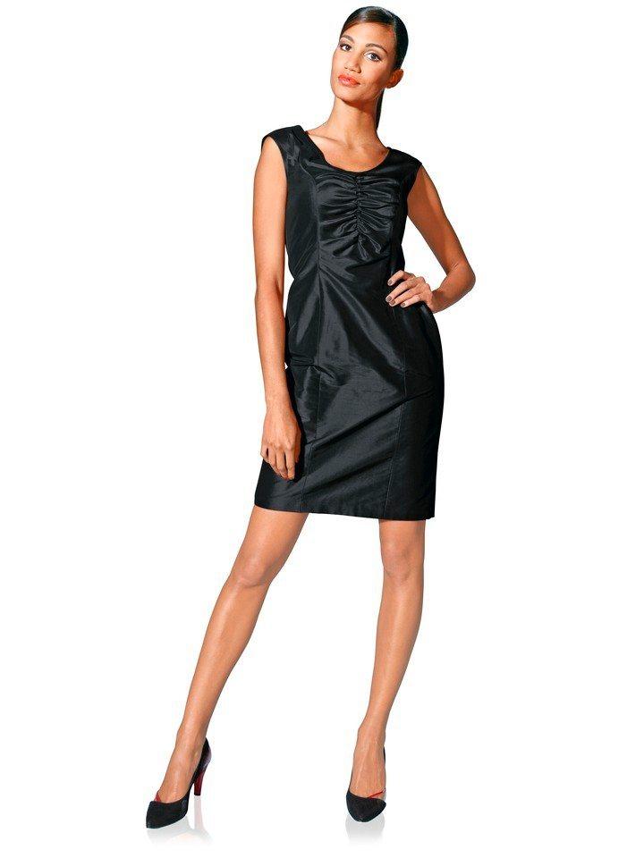 Zijden jurk zwart
