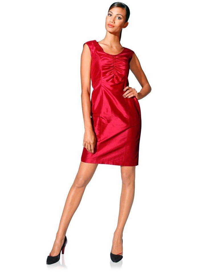 Zijden jurk rood