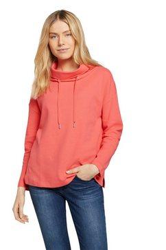 tom tailor sweatshirt met col en koordjes rood