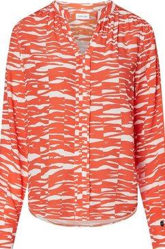 calvin klein blouse zonder sluiting »viscose rayon ls piping blouse« oranje