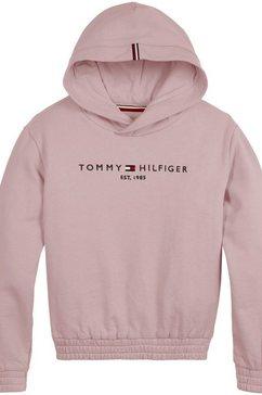tommy hilfiger hoodie essential hoodie met elastiek roze