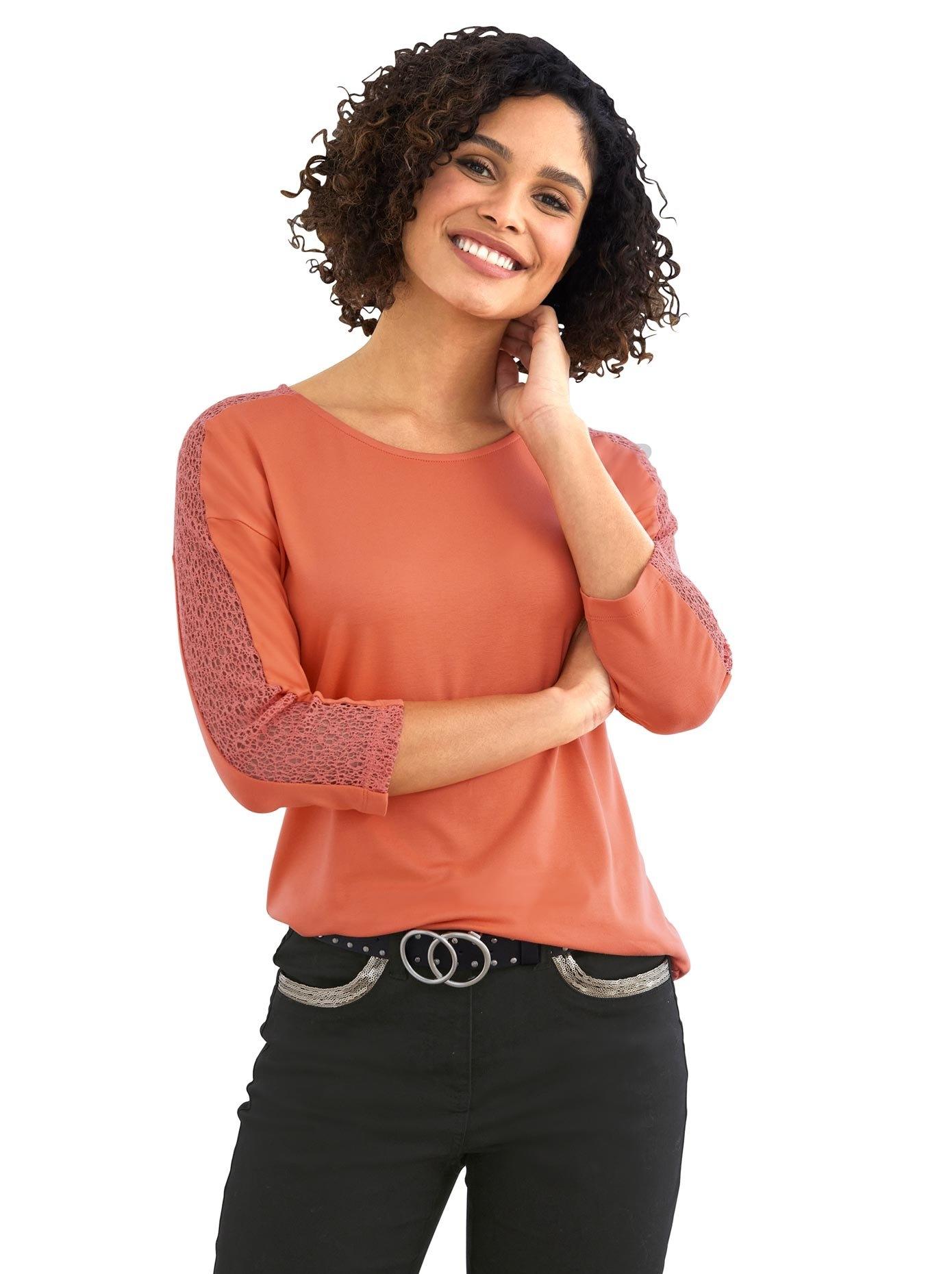 LINEA TESINI by Heine shirt met ronde hals nu online kopen bij OTTO