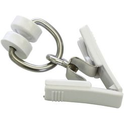 gardinia gordijnring t-rolringen met klemmen t-rail serie (20 stuks) wit