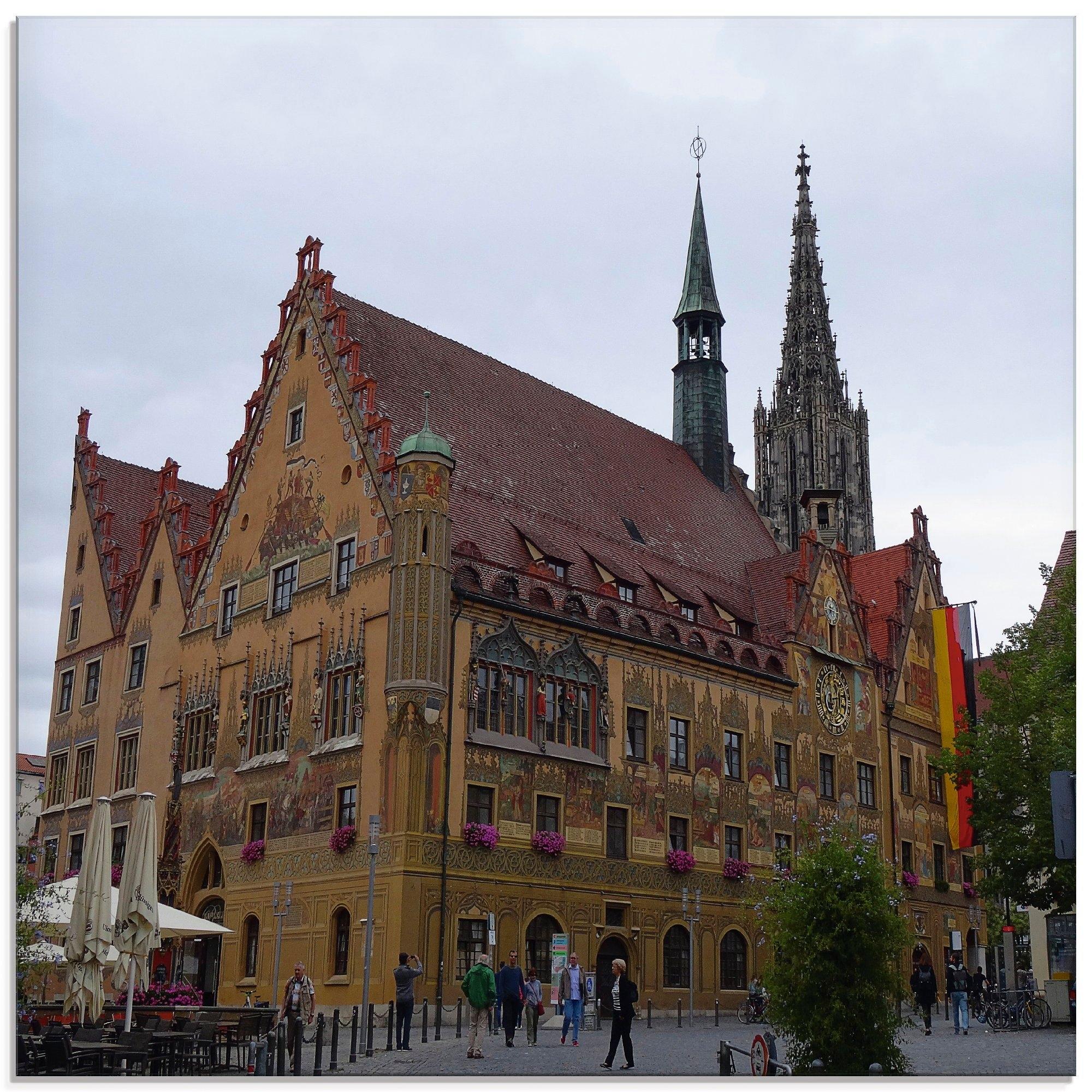 Artland print op glas Stadhuis van Ulm (1 stuk) bij OTTO online kopen