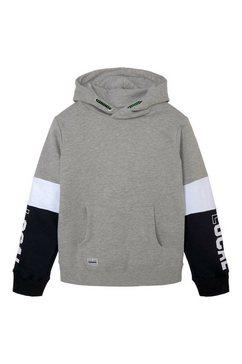tom tailor sweatshirt gemêleerde hoodie in colourblocking grijs