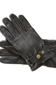 charles colby leren handschoenen »lord corey« zwart