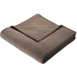 biederlack deken »thermosoft uni« bruin