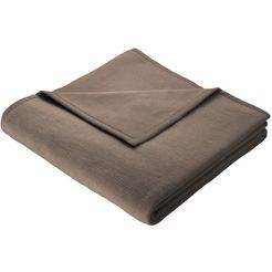 biederlack deken »thermosoft uni« grijs