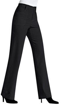 alessa w. broek in trendy wijd model zwart