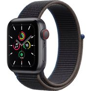 apple smartwatch se gps + cellular, aluminium kast met sport loop 40 mm inclusief oplaadstation (magnetische oplaadkabel) grijs