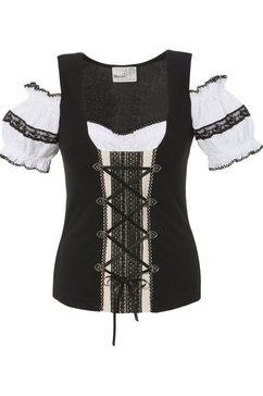 marjo folkloreshirt zwart
